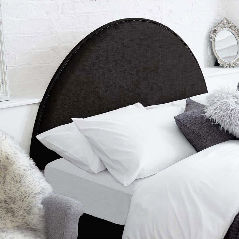 Bakewell Headboard Black Super King