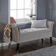 See more information about the Balmoral Window Seat Light Grey & Chenille With Storage