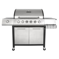 See more information about the Premium 7 Burner Gas Garden Barbecue Side Burner - Black & Silver