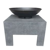 See more information about the Metal Enamel Treated Garden Fire Bowl & Square Stand