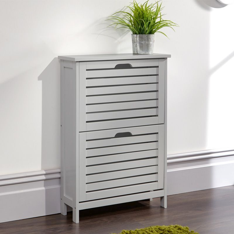 Bergen Shoe Storage Grey 2 Door
