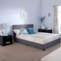 See more information about the Bed In A Box Grey Fabric 4ft Queen Size Bedstead