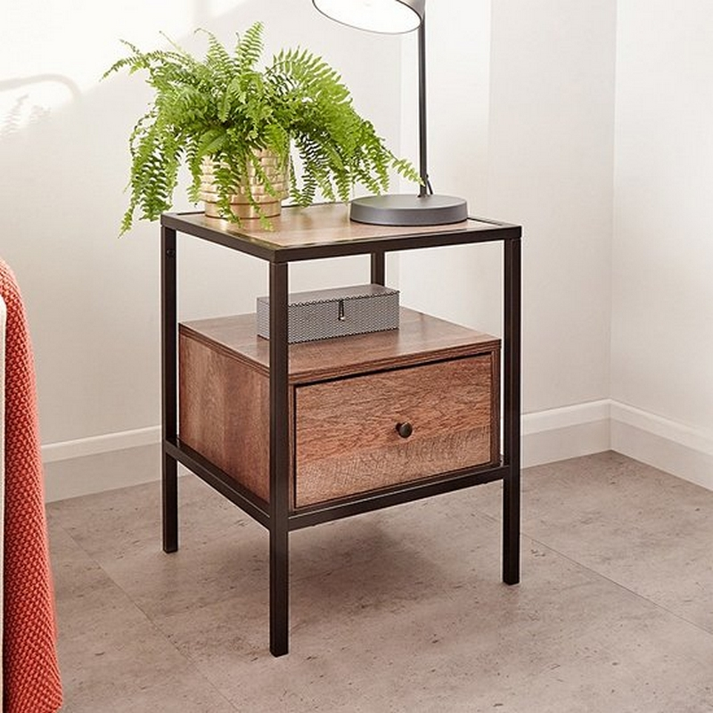 Brunel 1 Drawer Lamp Table Bronzed