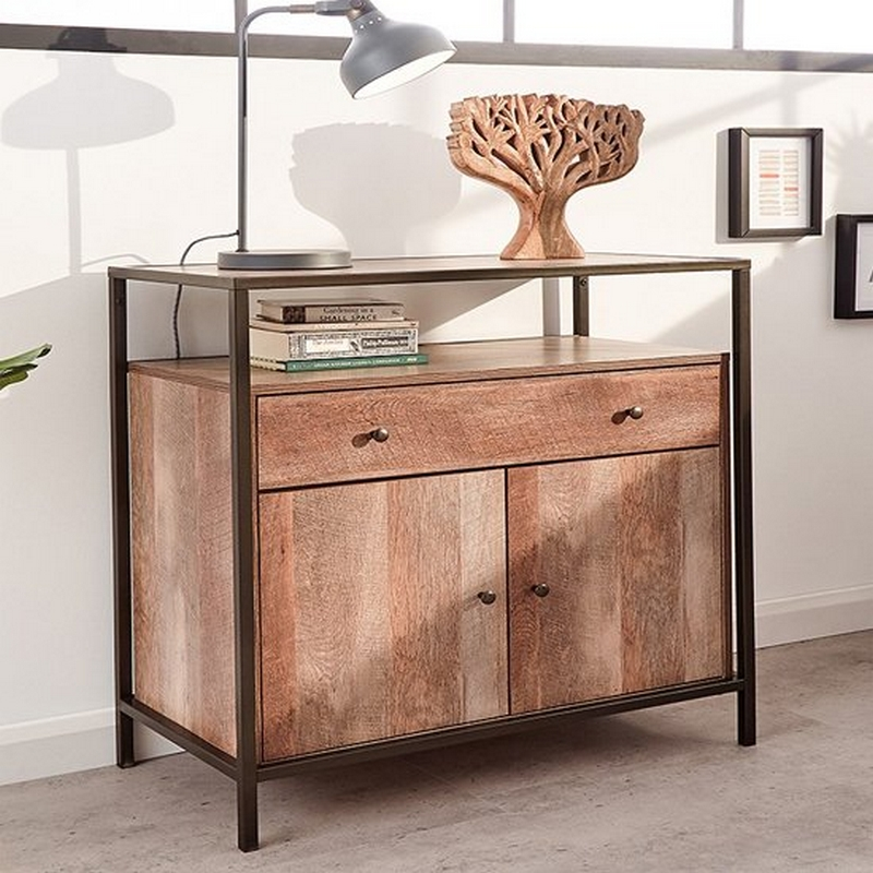 Brunel 2 Door 1 Drawer Sideboard Bronzed