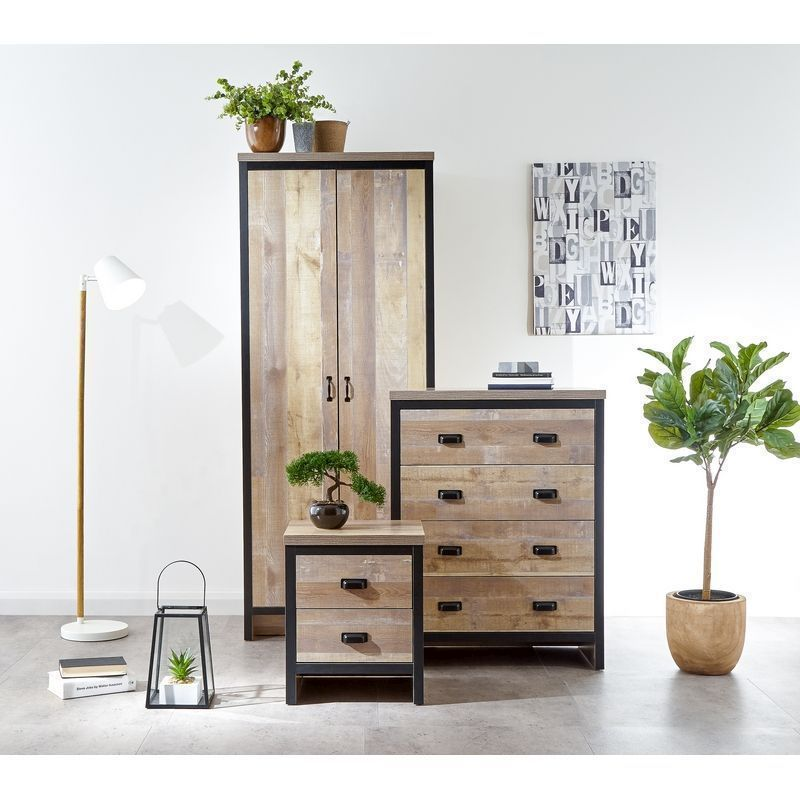 Boston 3 Piece Bedroom Set Oak Styled