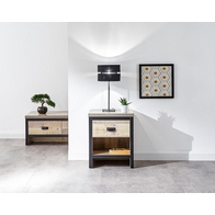 See more information about the Boston 1 Drawer Lamp Table Oak Styled