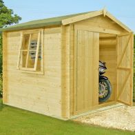 See more information about the Shire Bradley Untreated 19mm Garden Log Cabin 7' x 7'