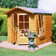 See more information about the Shire Buckingham Shiplap Pressure Treated Garden Summerhouse 7' x 7'