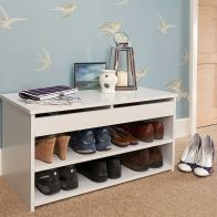 See more information about the Budget Shoe Storage White 1 Door 2 Shelf