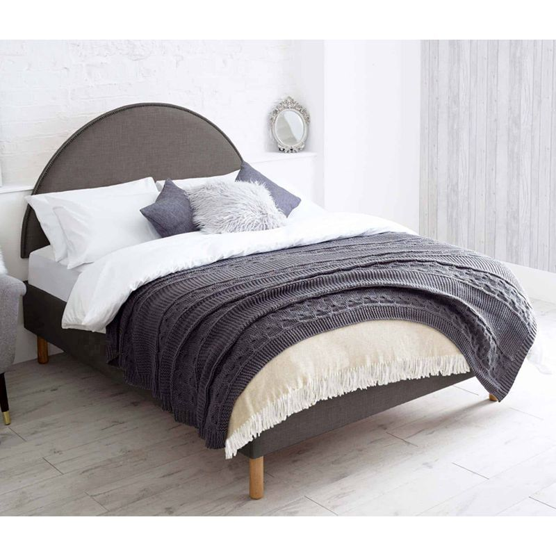 Bakewell Pine Grey 4ft 6in Double Bed Frame