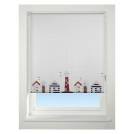 See more information about the Universal 60cm Neutral & Red Beach Hut Daylight Roller Blind