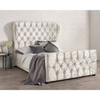 See more information about the Bellagio Double Bed White Velvet