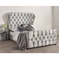 See more information about the Bellagio Double Bed Grey Velvet
