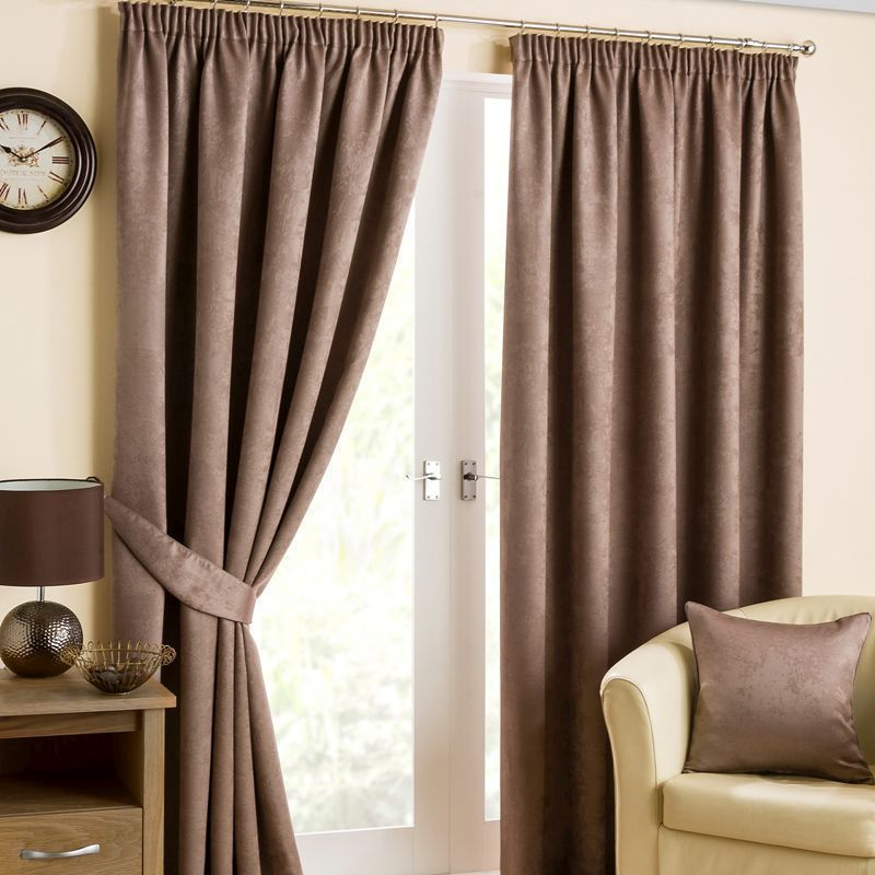 "Hamilton McBride Fusion Black Out Curtains (45"" x 72"") - Mink"