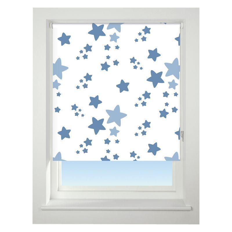 universal 60cm blue twinkle twinkle blackout roller blind. Black Bedroom Furniture Sets. Home Design Ideas