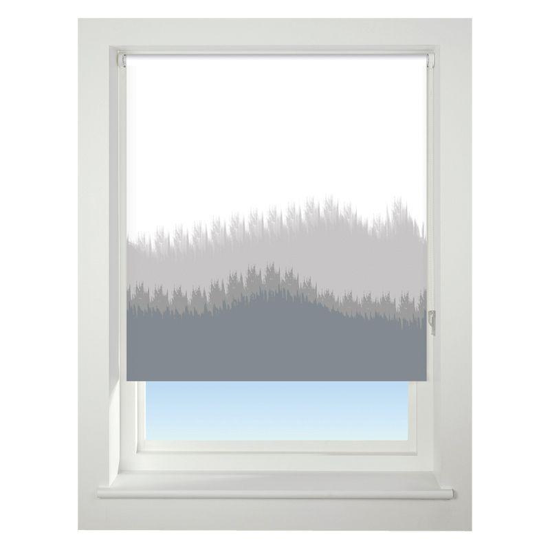 universal 120cm grey blur border blackout roller blind. Black Bedroom Furniture Sets. Home Design Ideas