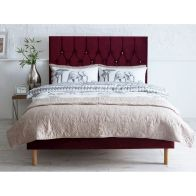 See more information about the Catherine Lansfield Divan Velvet Red 4ft Queen Size Bed Frame