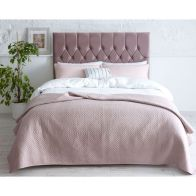 See more information about the Catherine Lansfield Divan Velvet Pink 4ft Queen Size Bed Frame