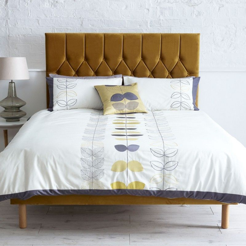 sale retailer cfe0a e3d39 Catherine Lansfield Small Double Bed Gold Velvet