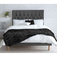 See more information about the Catherine Lansfield Divan Velvet Grey 4ft Queen Size Bed Frame