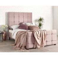 See more information about the Brooklyn Double Bed Pink Velvet