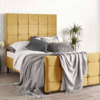 See more information about the Brooklyn Double Bed Gold Velvet