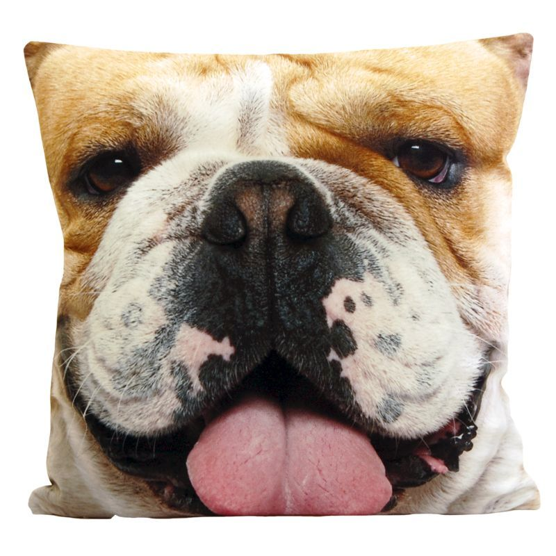 Jumbo Photographic Animal Cushion - Bulldog