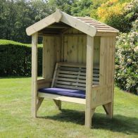 See more information about the Croft Cottage 2 Seat Enclosed Garden Arbour