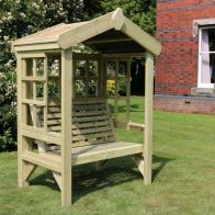 See more information about the Croft Cottage 2 Seat Trellis Garden Arbour