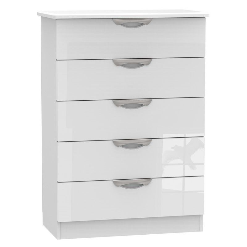 Weybourne White Chest Of 5 Drawers
