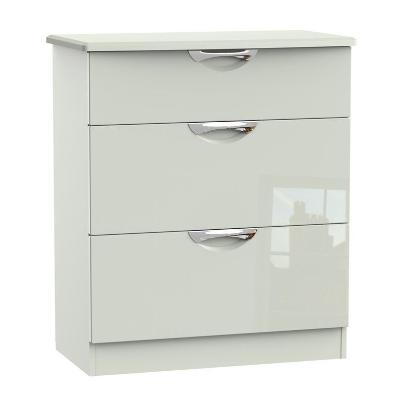 Weybourne Cream Deep Chest Of 3 Drawers