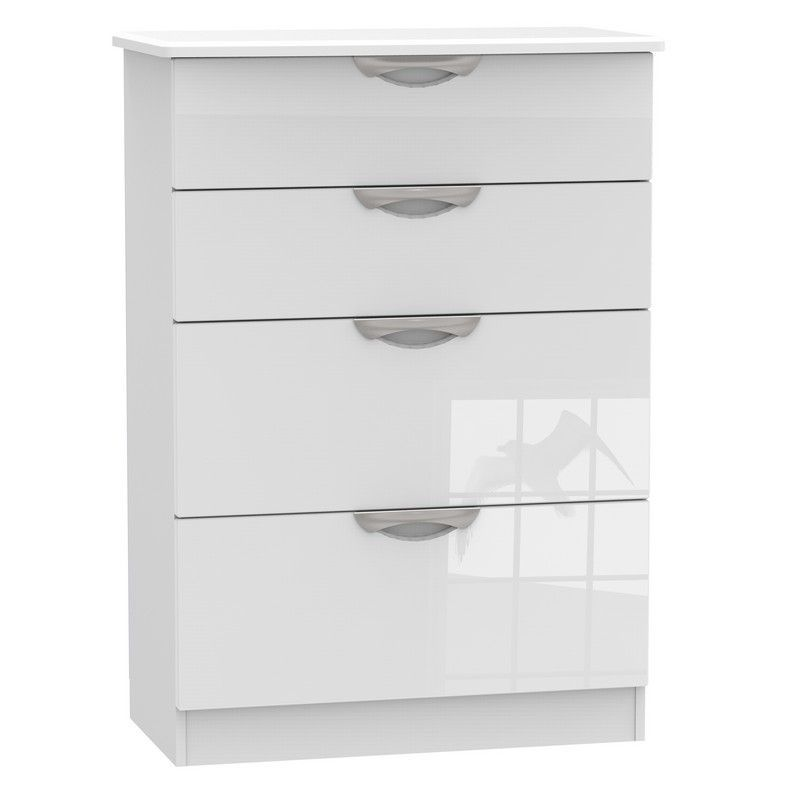Weybourne White Deep Chest Of 4 Drawers