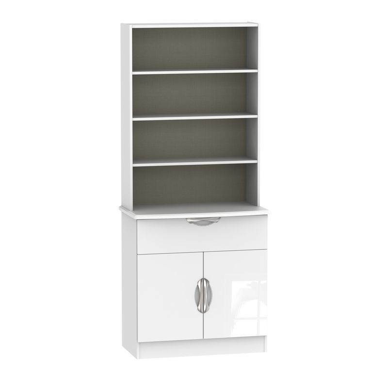 Weybourne Sideboard White 2 Door 4 Shelf 1 Drawer