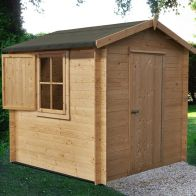 See more information about the Shire Camelot 19mm Garden Log Cabin 8' x 8'