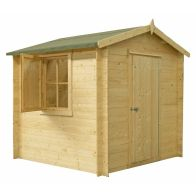 See more information about the Shire Camelot Untreated 19mm Garden Log Cabin 9' x 9'