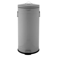 See more information about the 30L Retro Steel Waste Rubbish Kitchen Pedal Bin - Grey