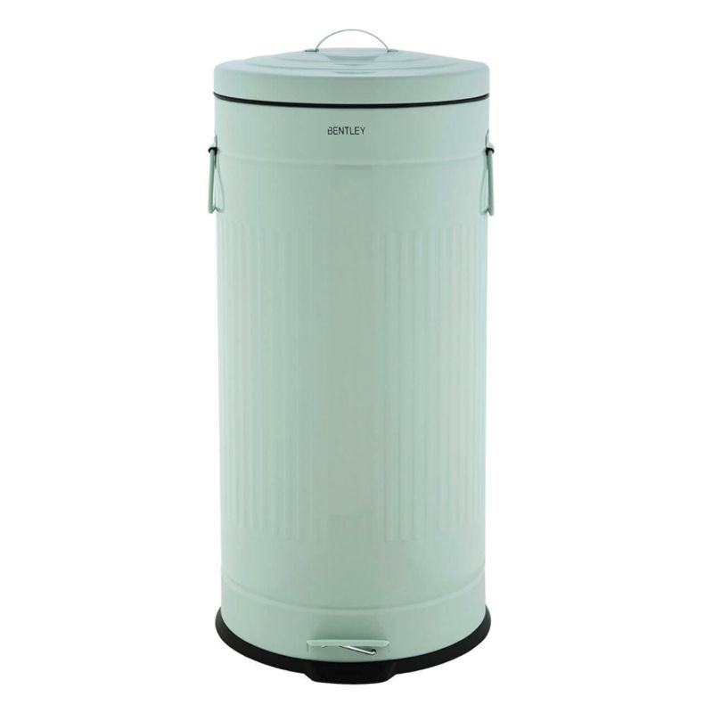 30L Retro Steel Waste Rubbish Kitchen Pedal Bin - Green