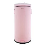 See more information about the 30L Retro Steel Waste Rubbish Kitchen Pedal Bin - Pink