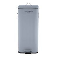 See more information about the 30L Steel Square Retro Kitchen Pedal Waste Bin - Grey