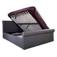 See more information about the Carolina Grey Side Lift Ottoman King Size 5ft Bed Frame