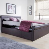 See more information about the Carolina Brown Side Lift Ottoman King Size 5ft Bed Frame