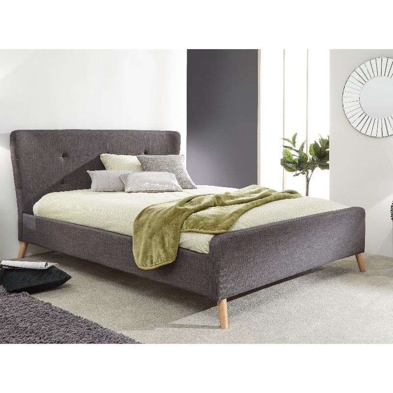 Carnaby Upholstered King Size Bed Frame Grey