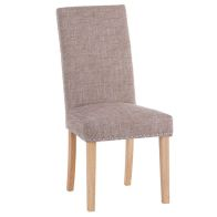 See more information about the Lancelot Studded Back Dining Chair Brown
