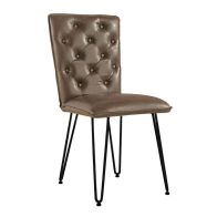 See more information about the Urban Chesterfield Studded Back Dining Chair Brown