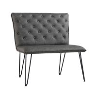 See more information about the Urban Chesterfield Studded Back Small Dining Bench Grey