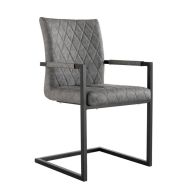 See more information about the Urban Bauhaus Diamond Stitch Carver Dining Chair Grey