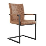 See more information about the Urban Bauhaus Diamond Stitch Carver Dining Chair Tan
