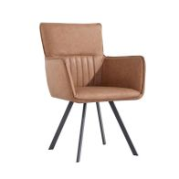 See more information about the Urban Retro Carver Dining Chair Tan