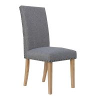 See more information about the Madrid Fabric Straight Back Dining Chair Light Grey