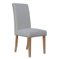 See more information about the Madrid Fabric Straight Back Dining Chair Natural